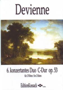 DEVIENNE - 6. KONZERTANTES DUO C-DUR OP.53 FÜR 2 FLÖTEN ERSTAUSGABE, HERAUSGEGEBEN VON WOLFGANG KOSSACK