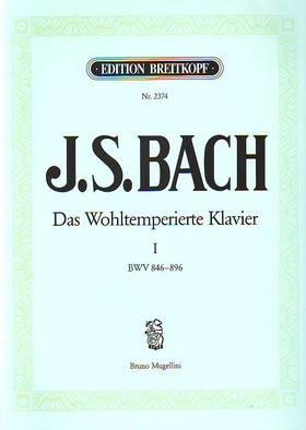 J. S. Bach - DAS WOHLTEMPERIERTE KLAVIER I BWV 846-896, INSTRUKTIVE AUSGABE VON BRUNO MUGELLINI