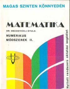 OBÁDOVICS J. GYULA - Numerikus módszerek II. [antikvár]