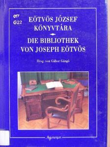 Gángó Gábor - Eötvös József könyvtára [antikvár]