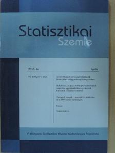 Csaba L. - Statisztikai Szemle 2015. április [antikvár]