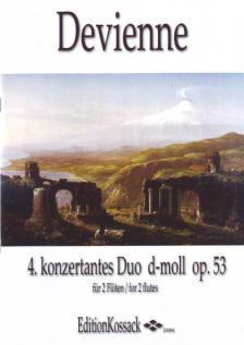 DEVIENNE - 4. KONZERTANTES DUO d-MOLL OP.53 FÜR 2 FLÖTEN ERSTAUSGABE, HERAUSGEGEBEN VON WOLFGANG KOSSACK