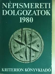 Barabás László - Népismereti dolgozatok 1980 [antikvár]
