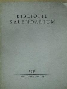 Erdélyi József - Bibliofil kalendárium 1933 [antikvár]