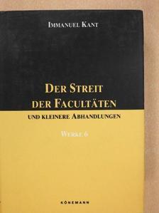 Immanuel Kant - Der Streit der Facultäten [antikvár]