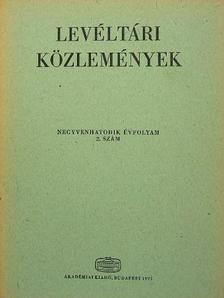 Balázs Péter - Levéltári közlemények XLVI. 2. szám [antikvár]