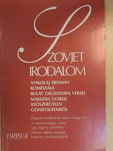 Alekszandr Ovcsarenko - Szovjet Irodalom 1989/4. [antikvár]