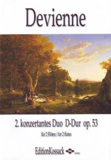 DEVIENNE - 2. KONZERTANTES DUO D-DUR OP.53 FÜR 2 FLÖTEN ERSTAUSGABE, HERAUSGEGEBEN VON WOLFGANG KOSSACK