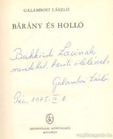 Galambosi László - Bárány és holló [antikvár]