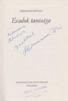 Hermann István - Évadok tanúsága (dedikált) [antikvár]