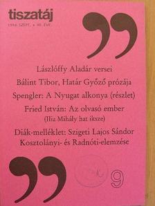 Bálint Tibor - Tiszatáj 1994. szeptember [antikvár]