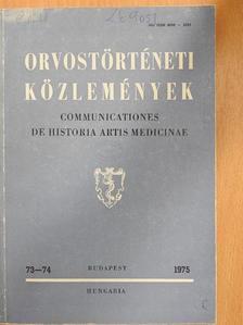 Cseh Imre - Orvostörténeti közlemények 73-74. [antikvár]