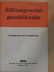 Belics János - A költségvetési szervek ellenőrzése [antikvár]