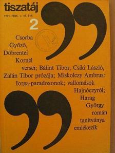 A. Sajti Enikő - Tiszatáj 1991. február [antikvár]