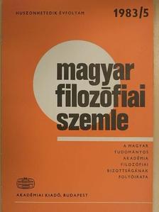 Dobó Andor - Magyar Filozófiai Szemle 1983/5. [antikvár]