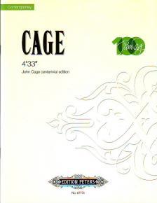 """CAGE, JOHN - 4'33"""" JOHN CAGE CENTENNIAL EDITION"""