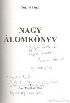 Pusztai János - Nagy álomkönyv VI. kötet (dedikált) [antikvár]