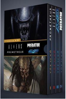 Többen - Prometheus + Aliens + Alien vs.Predator + Predator: Tűz és kő - díszdobozban (képregény)