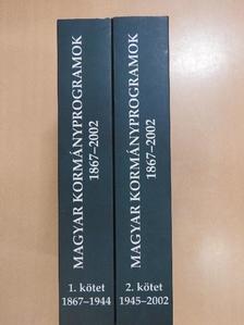 Kiss Péter - Magyar Kormányprogramok 1867-2002. I-II. [antikvár]