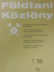 Bérczi István - Földtani Közlöny 1988/2. [antikvár]