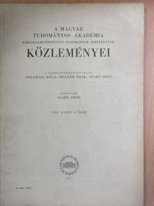 Bulla Béla - A Magyar Tudományos Akadémia Társadalmi-Történeti Tudományok Osztályának Közleményei 1957. [antikvár]