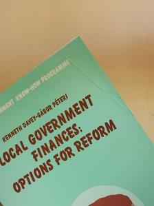 Horváth M. Tamás - Local Government Finances: Options for Reform [antikvár]