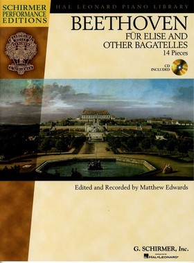 BEETHOVEN - FÜR ELISE AND OTHER BAGATELLES (14 PIECES EDITED AND RECORDED BY M. EDWARDS) + CD