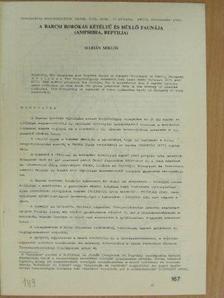 Dr. Marián Miklós - A Barcsi borókás kétéltű és hüllő faunája [antikvár]