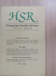Graham Petrie - Hungarian Studies Review Spring 1982 [antikvár]