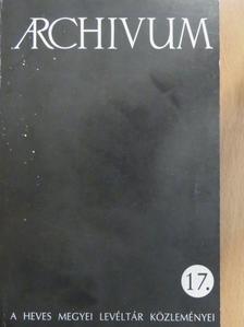 B. Huszár Éva - Archivum 17. [antikvár]