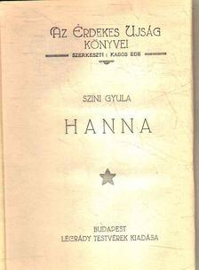 Szini Gyula - Hanna [antikvár]