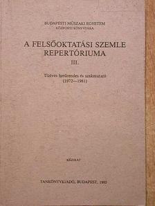 A Felsőoktatási Szemle repertóriuma III. [antikvár]