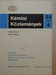 Berecz Endre - Kémiai Közlemények 1980/4. [antikvár]