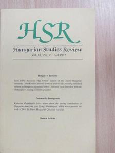 John Komlos - Hungarian Studies Review Fall 1982 [antikvár]