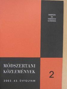 Bácsi János - Módszertani közlemények 2003/2. [antikvár]