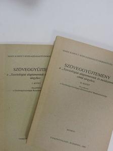 """Andorka Rudolf - Szöveggyűjtemény a """"Szociológiai alapismeretek és módszerek"""" c. tárgyhoz I-II. [antikvár]"""