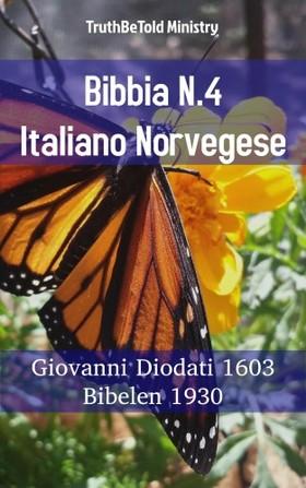 TruthBeTold Ministry, Joern Andre Halseth, Giovanni Diodati - Bibbia N.4 Italiano Norvegese [eKönyv: epub, mobi]