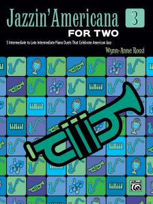 ROSSI, WYNN-ANNE - JAZZIN ' AMERICANA FOR TWO 3. 5 EARLY INTERMEDIATE TO INTERMEDIATE PIANO DUETS