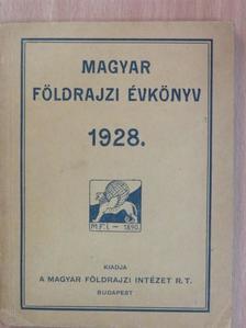 Bán Aladár - Magyar földrajzi évkönyv az 1928. évre [antikvár]