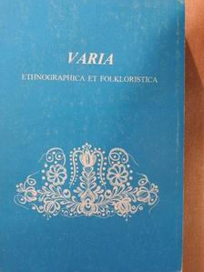 Bakos László - Varia ethnographica et folkloristica [antikvár]