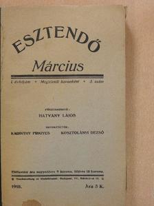 Dr. Szabó István - Esztendő 1918. március [antikvár]