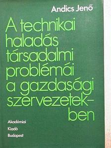 Andics Jenő - A technikai haladás társadalmi problémái a gazdasági szervezetekben [antikvár]