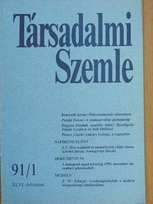 Fritz W. Scharpf - Társadalmi Szemle 1991. január [antikvár]