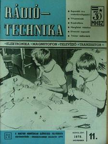 Albert Péter - Rádiótechnika 1978. (nem teljes évfolyam) [antikvár]