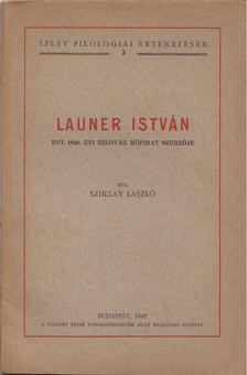Sziklay László - Launer István [antikvár]