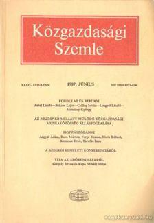 Szabó Katalin - Közgazdasági Szemle XXXIV. évfolyam 1987. június [antikvár]