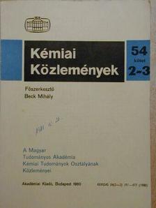 Biczó Géza - Kémiai Közlemények 1980/2-3. [antikvár]
