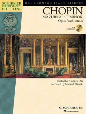 Chopin - MAZURKA IN f MINOR OP. POST., CD INCLUDED