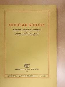 Antal László - Filológiai Közlöny 1985. január-december [antikvár]