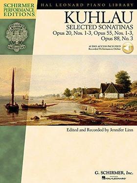 KUHLAU - SELECTED SONATINAS OP.20, NOS.1-3, OP.55, NOS. 1-3, OP.88, NO.3, CD INCLUDED